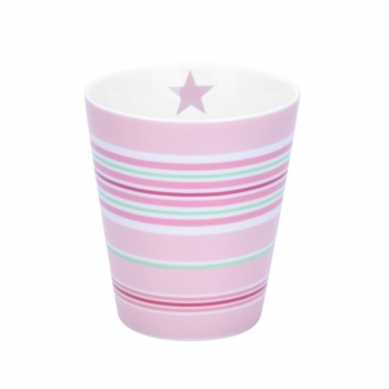 Becher - Multi stripes pink