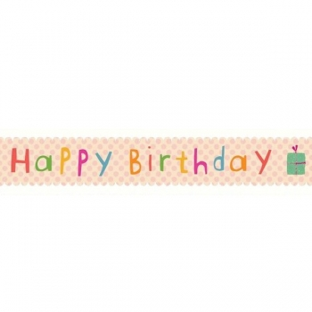 Masking tape - Birthday (rosa)
