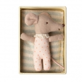 Stoff-Maus - Sleepy-Wakey in box (Girl)